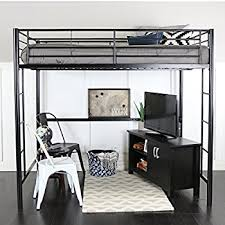 full size bunk bed with desk. Perfect Desk WE Furniture Full Metal Loft Bed  Black In Size Bunk With Desk N