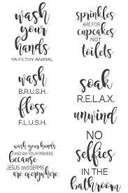 Free Printable Bathroom Art Inspiration 48 Bathroom Signs SVG The Girl Creative