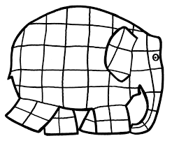 Elmer Elephant Coloring Page Coloring Home