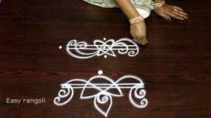 Side Rangoli Designs Images Creative And Easy Rangoli Side Designs Simple Kolam Side