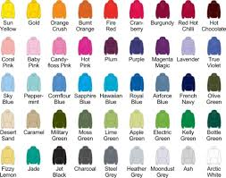 Hoodie Colour Chart Jh001 Hoodie Personalised With Your Own Stag Or Hen Logo