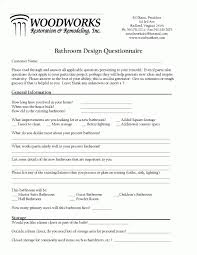 Kitchen Design Questionnaire Plans