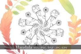 Find & download free graphic resources for mandala. Mandala Svg Bundle Split Mandala Half Graphic By Alyviaskye Creative Fabrica