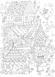 Gingerbread House Coloring Pages Free House Coloring Pages Free