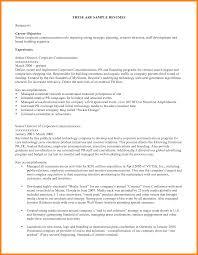 Sample Job Objectives For Resume Resume For Your Job Application