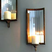 sconces large candle sconce wall holders decorative tall floor oversized holder wood pillar