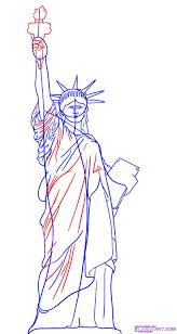 как нарисовать статую свободы на бумаге карандашом поэтапно