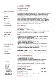 Dog Groomer Resume Dog Groomer Resume Pets Salon Job Description Example