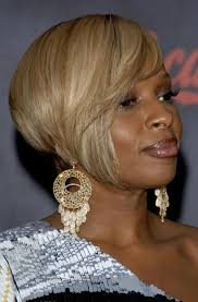 mary j blige angled bob cut hairstyle