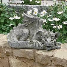2 baby dragon statue sculpture porch