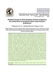 Trickle Irrigation Systems Design Pdf Modified Design For Drip Irrigation System To Improve