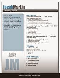 Modern Column Resume Resume Example Modern White Background And Blue Column