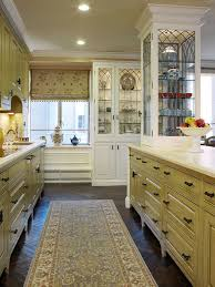 leaded glass cabinet doors. example of a classic kitchen design in san francisco with glass-front cabinets leaded glass cabinet doors
