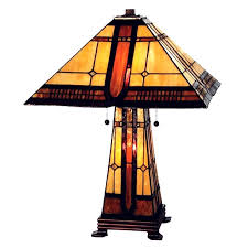 mission lamps lighting stained glass arts crafts craftsman