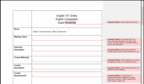 creating a syllabus sample syllabi assignments the online writing