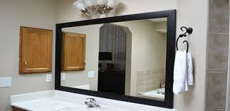 amazing of bathroom mirror black clever design framed mirrors intended for remodel 11 framed bathroom mirror ideas e92