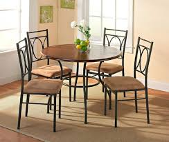 small round dining room sets with 4 chairs