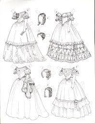 Small Picture Paper Dolls in black white to color cut Marges8s Blog Page 3