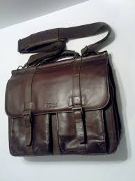 upc 023572488076 product image for kennet cole reaction mind your business double gusset leather laptop bag