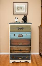 Suitcase Nightstand stylish suitcase dresser how to build suitcase dresser home 3684 by guidejewelry.us