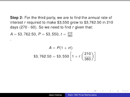 Math 1300 Section 3 1 Simple Interest