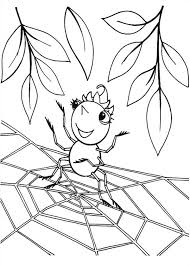 Small Picture Cute Spider Girl Standing on Spider Web Coloring Page Color Luna
