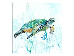 sea turtles wall art sea turtle swim i by 1 piece canvas wall art sea