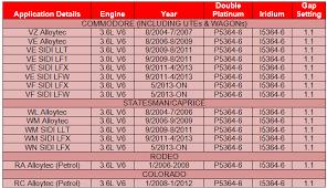 Double Platinum Iridium Spark Plugs For Holden Vz Vf