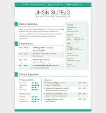 Resume Example Web Developer One Page Resume Template Resume