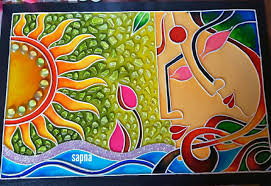 Glass Painting Ideas Designs Chemical Painting Clay Wall Art Colorful Wall Art Glass