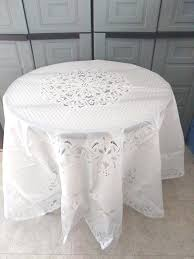 plastic tablecloths for wedding vinyl lace round tablecloth white new 70 inch tab