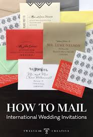 how to mail wedding invitations to international guests
