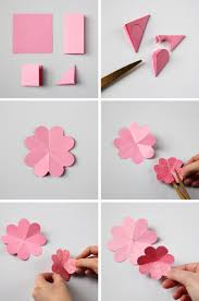 How To Make Origami Paper Flower Diy Spring Paper Flower Wreath Gathering Beauty