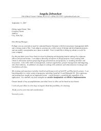 Outstanding Cover Letter Examples Interior Design Example