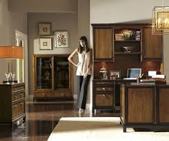 deluxe wooden home office. Office:Deluxe Luxury Home Office Ideas With Brown Cabinets And Led Tv Black Leather Deluxe Wooden