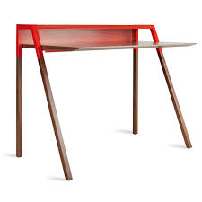 previous image cant small modern study desk walnut red