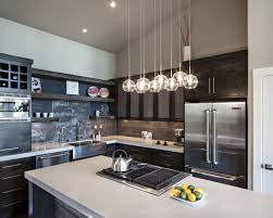 Contemporary Kitchen Island Lighting Et2 Starburst 8 Lt Xenon Pendant Satin Nickel Kitchen