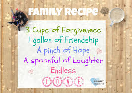 Quotes About Friendship And Forgiveness Family Quotes Family Recipe 10000 Cups of Forgiveness 100 gallon of 43