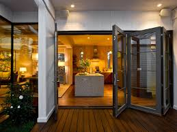 lovely house decoration ideas using barn door designs with gl material