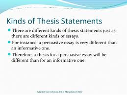 thesis statements kinds