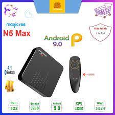 Android tivi box Magicsee N5 - Chip S905X siêu khủng - Android 9.0 - Ram  2GB - Rom 16GB - Xem truyền hình miễn phí