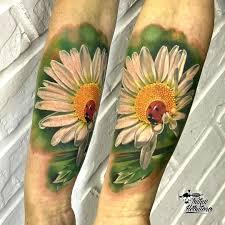 тату цветы тату ромашка тату цветы реализм
