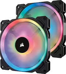 How To Make Hue Lights Color Loop Corsair Ll140 Rgb 140mm Dual Light Loop Rgb Led Pwm Fan 2 Fan Pack With Lighting Node Pro Co 9050074 Ww