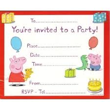 Birthday Invite Ecards Peppa Pig Birthday Invitation Template Valid Dorable Free Birthday