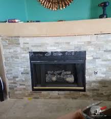 stacked stone install and new mantle install jenniferppriest