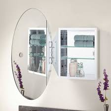 Elegant Round Mirror Medicine Cabinet 72 With Additional Tall ...