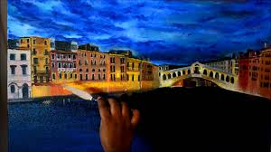 oil painting rialto bridge grand c venice
