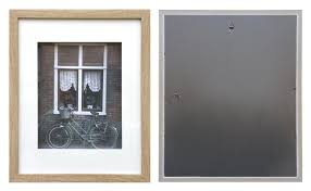 a3 maple shadow box frame mat inside suits a4 picture with clear glass stand
