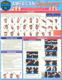 American Sign Language Fingerspelling Chart American Sign Language Conversations Quick Study