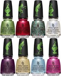 if you weren t pletely satisfied by the awesome pur minerals grinch makeup collection maybe the china glaze the grinch nail lacquer collection will get